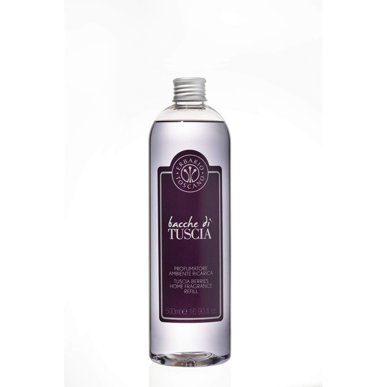Erbario Toscano Bacche Di Tuscia Diffuser Refill 500ml - All Natural Italian Made Luxury Home Fragrance and Scent - Aromatherapy and Air Freshener