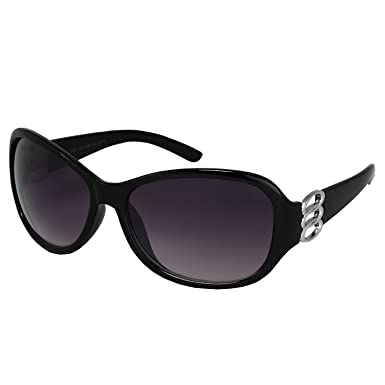 d576e67a5c Dervin Black Frame Black Lens Over Sized Sunglasses for Women  Amazon.in   Clothing   Accessories