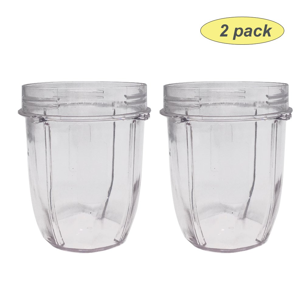 2 Replacement Parts 12oz.bullet cups For Auto-iQ Ninja bullet cups BL2012/BL2013/BL480/BL480D/481/482/486/487/487A/488W/490/491/492/492W/640/642/642W/642Z/680A/682/NN100/NN100A/NN101/NN102 (2)