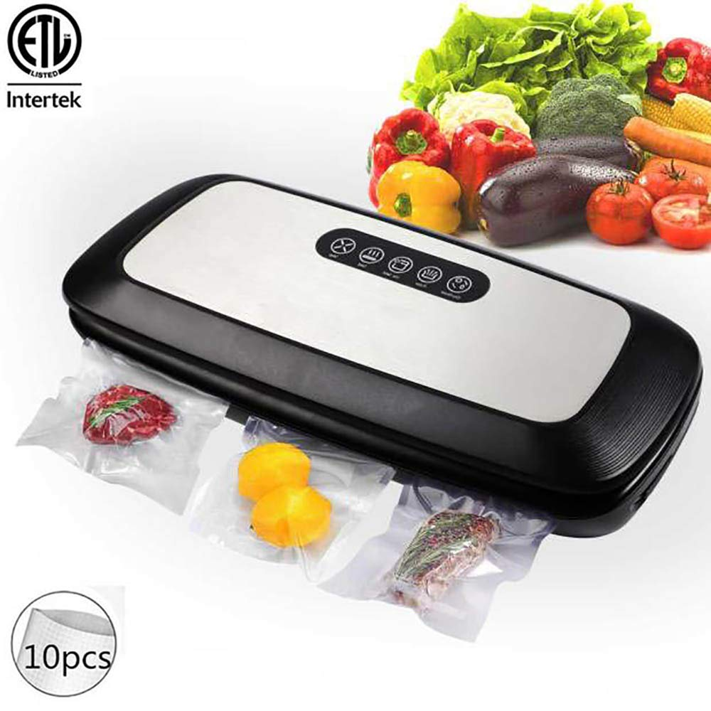 UPEOR Vacuum Sealer Machine,Automatic Automatic Food Sealer Machine with 10 Starter Bags|Led Indicator Lights|Easy to Clean|Dry & Moist Food Modes| Compact Design by UPEOR