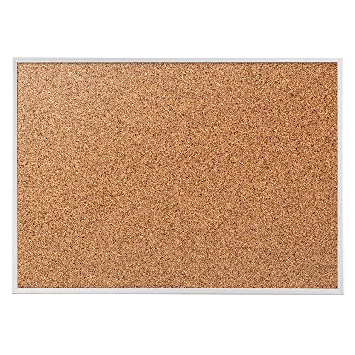 Quartet Cork Bulletin Board, Cork Board, 6' x 4', Aluminum Frame (2307) by Quartet