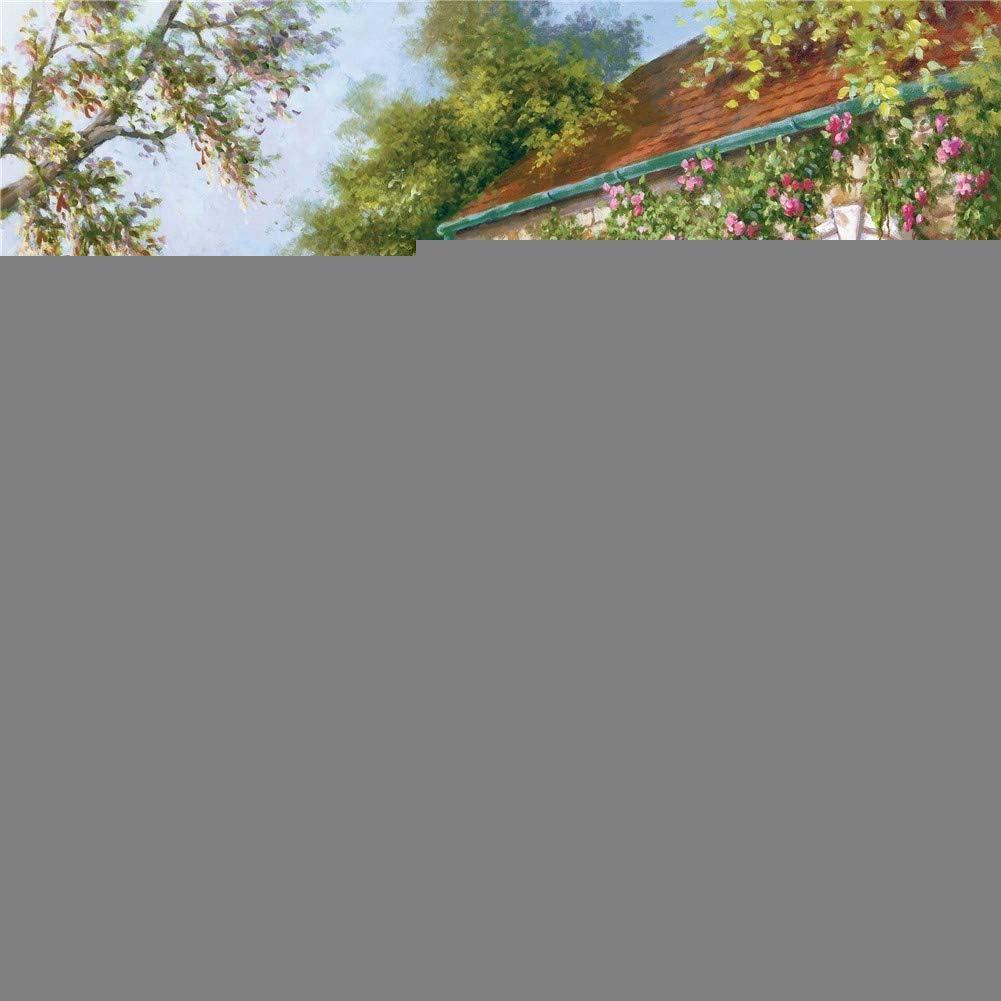 DIY 5D Diamond Painting Kit Completo Mesa y silla de jardín Cottage Round Drill,50 * 60cm Hechos a Mano Full Rhinestone Pintura por Número Kit de Punto de Cruz Bordado Lienzo Craft Pared Decor Q598