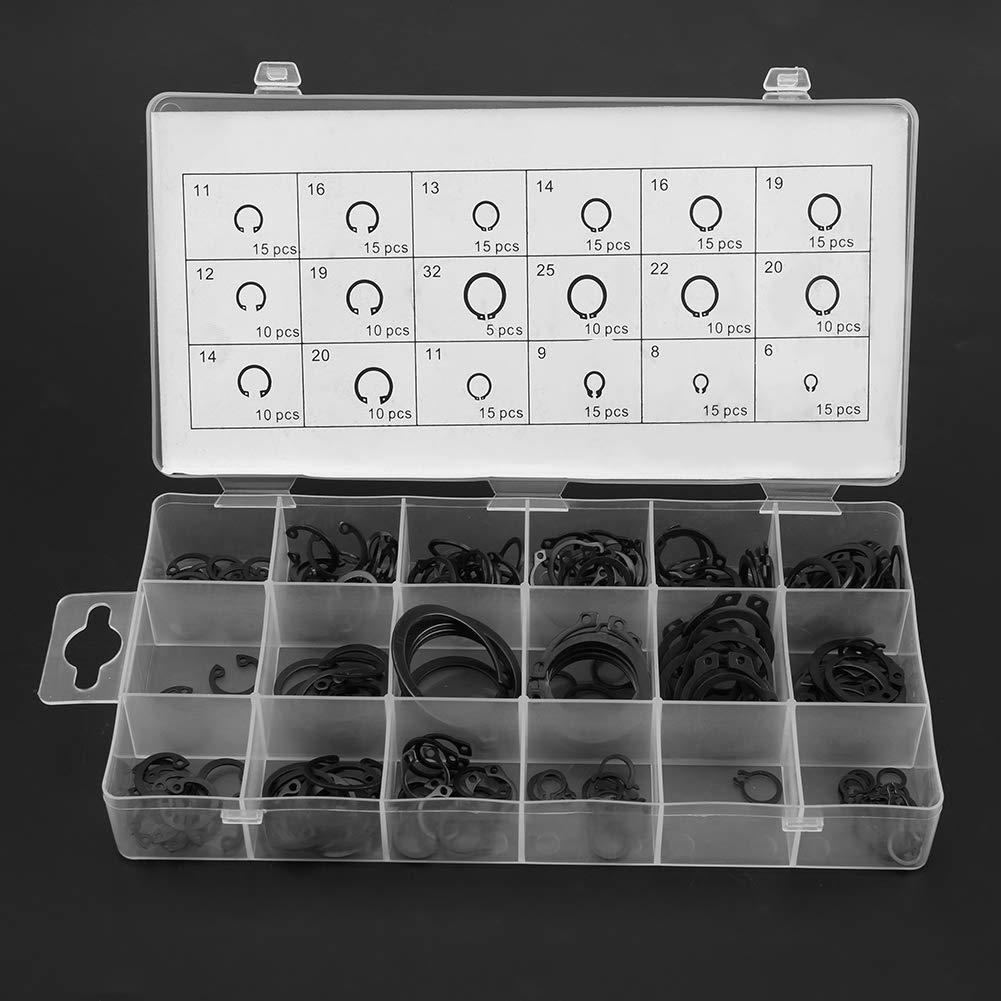225Pcs Internal /& External Snap Ring C-Clip Circlip Assortment Box Set 18 Sizes Bewinner Circlip Assortment