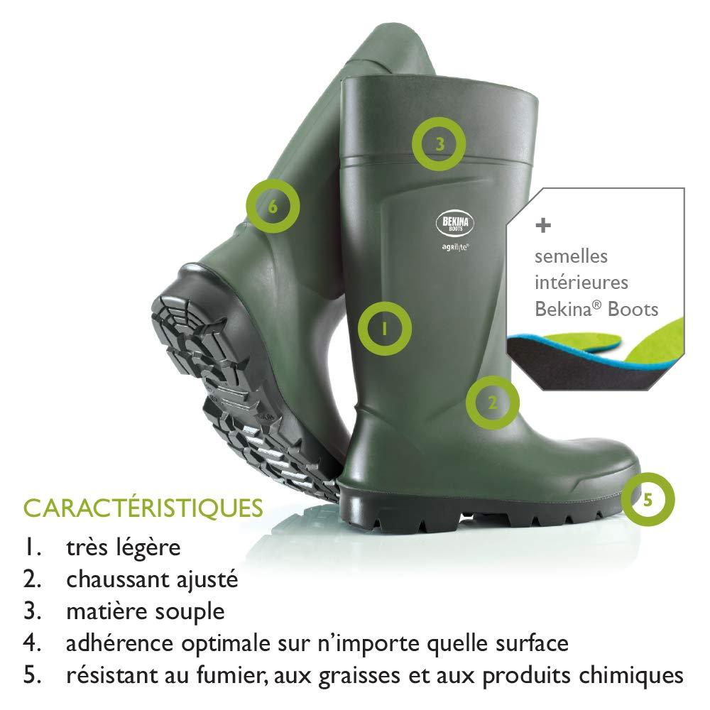 Agrilite Steplite Easygrip S5 Gr/ö/ße 37 gr/ün Bekina Qualit/äts Sicherheits-Gummistiefel Herren und Damen MIT Stahlkappe MIT Stahlsohle