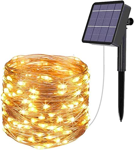 Solar String Lights 78.7FT 240LED Solar Fairy Lights 8 Modes Copper Wire Solar Powered Fairy Lights Outdoor Waterproof for Garden Yard Party Camping Patio Christmas Tree Decoration