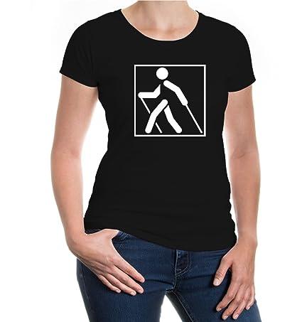 buXsbaum® Girlie T-Shirt Nordic Walking-Piktogramm: Amazon.de: Bekleidung