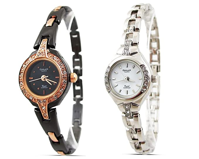 2 x caros Relojes venta para mujer relojes – relojes para mujer pulsera estilo negro/