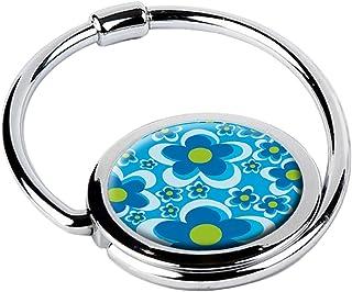 MISS KHA - Accroche Sac Pliable Fleurs Bleues CIRCLE-01