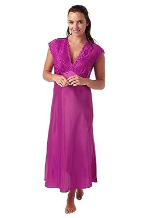 aba5b63fce Indigo Sky Ladies Satin Long Nightdress  Amazon.co.uk  Clothing