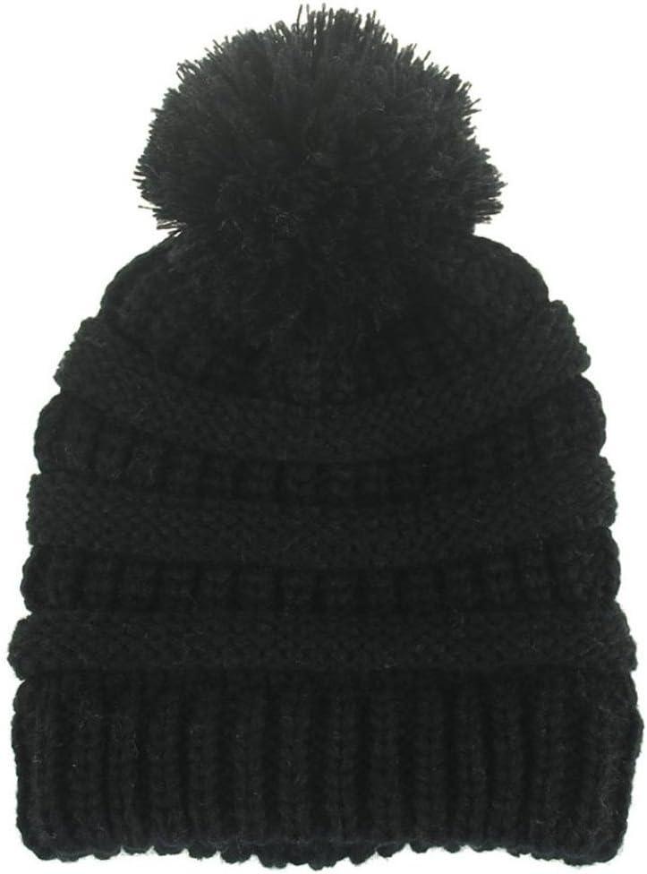 Recién nacido linda moda mantener calientes sombreros de invierno Sombrero de dobladillo de lana de punto bufanda Gorros Bebé invierno cálido sombreros Zapatos de bebé ropa bebe by Xinantime (Negro): Amazon.es: Hogar
