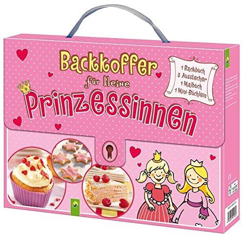 Backkoffer für kleine Prinzessinnen: Backbuch, 3 Ausstechförmchen, Malbuch und Minibuch im praktischen Kinderkoffer