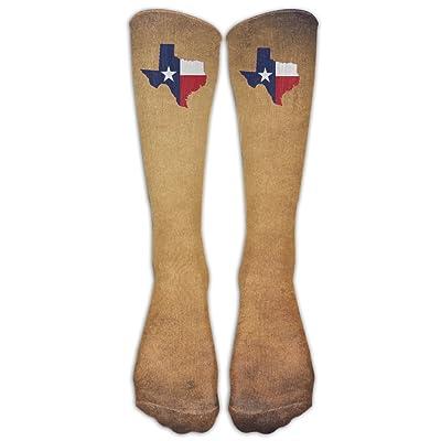 Texas State Flag Unisex Knee High Sports Socks For Baseball/Soccer
