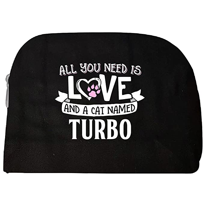 All You Need Is Love And A Cat Named Turbo Gift - Cosmetic Case