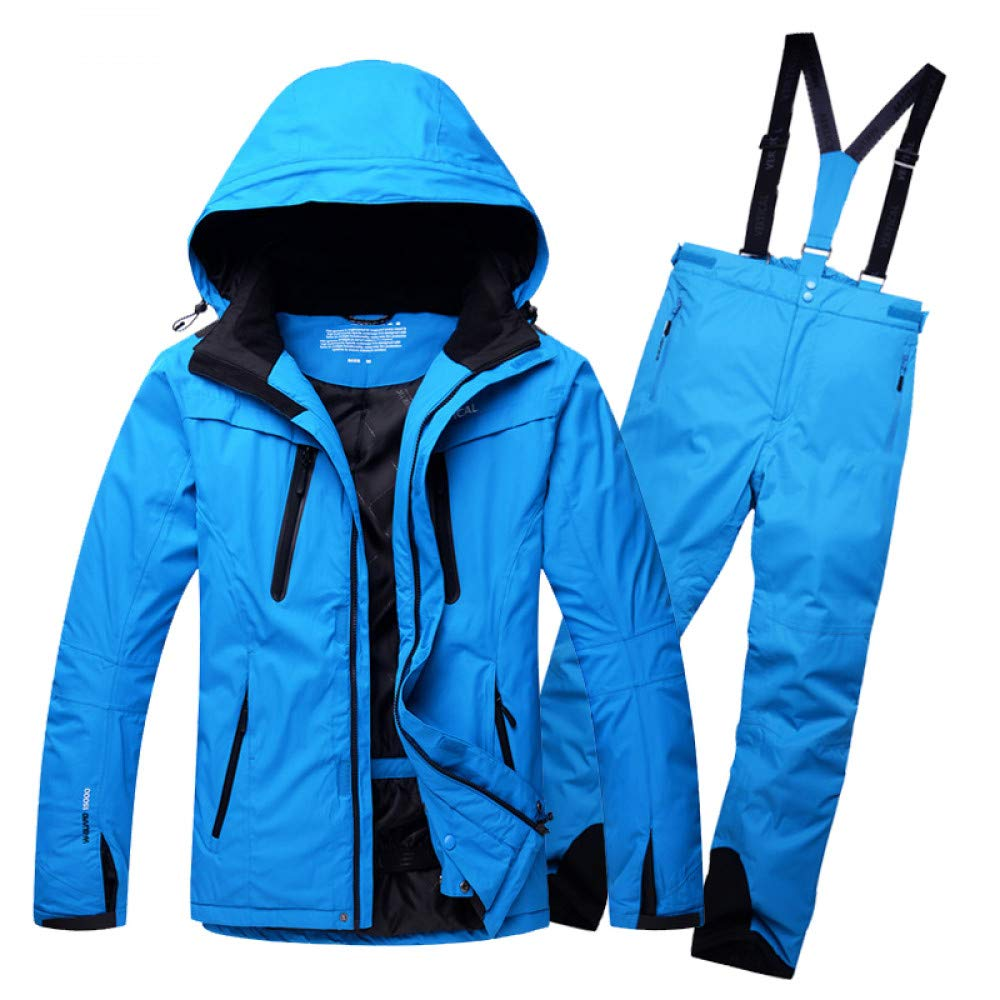 XXXL Zjsjacket Ski Jacket Men's ski Suits Snow ski Jacket + Waterproof Winter Skiing Trousers Set Outdoor Sportwear Snow Coat Withstand,30 Degrees