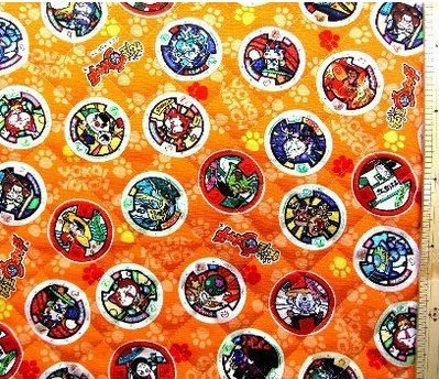 [Yokai watch Orange # 5 character quilting fabric 90cm] (Funny Pop Culture Costume Ideas)