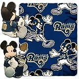 NFL St. Louis Rams Co-Branded Disneys Mickey Hugger and Fleece Throw Set