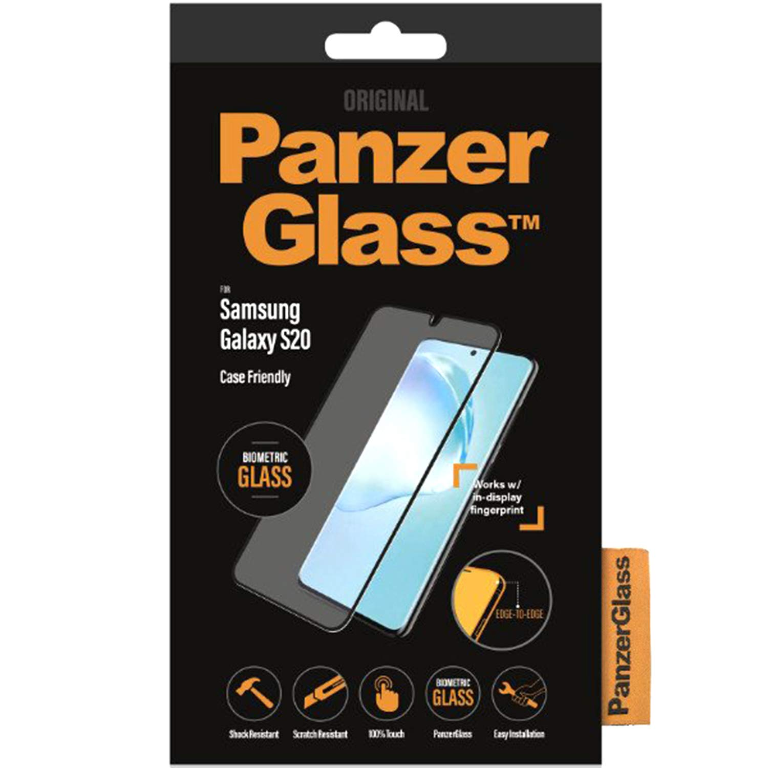 PanzerGlass 7222 Screen Protector for Mobile Phone/Smartphone Samsung 1 Piece(s) 7222, Screen Protector, Mobile Phone/Smartphone, Samsung, Galaxy S20, Scratch Resistant,