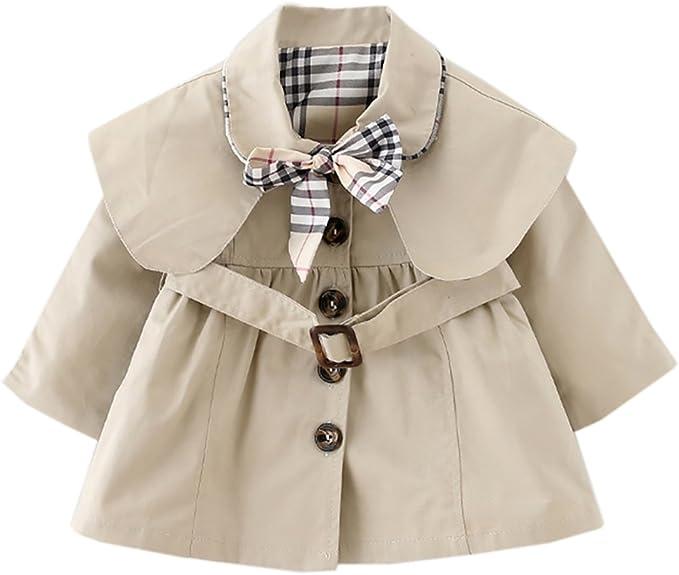 CHIC-CHIC M/ädchen Mantel Jacke Prinzessin Trenchcoat Prinzessin Kinderjacken kleidung Outerwear Fr/ühling Herbst Sweatjacke