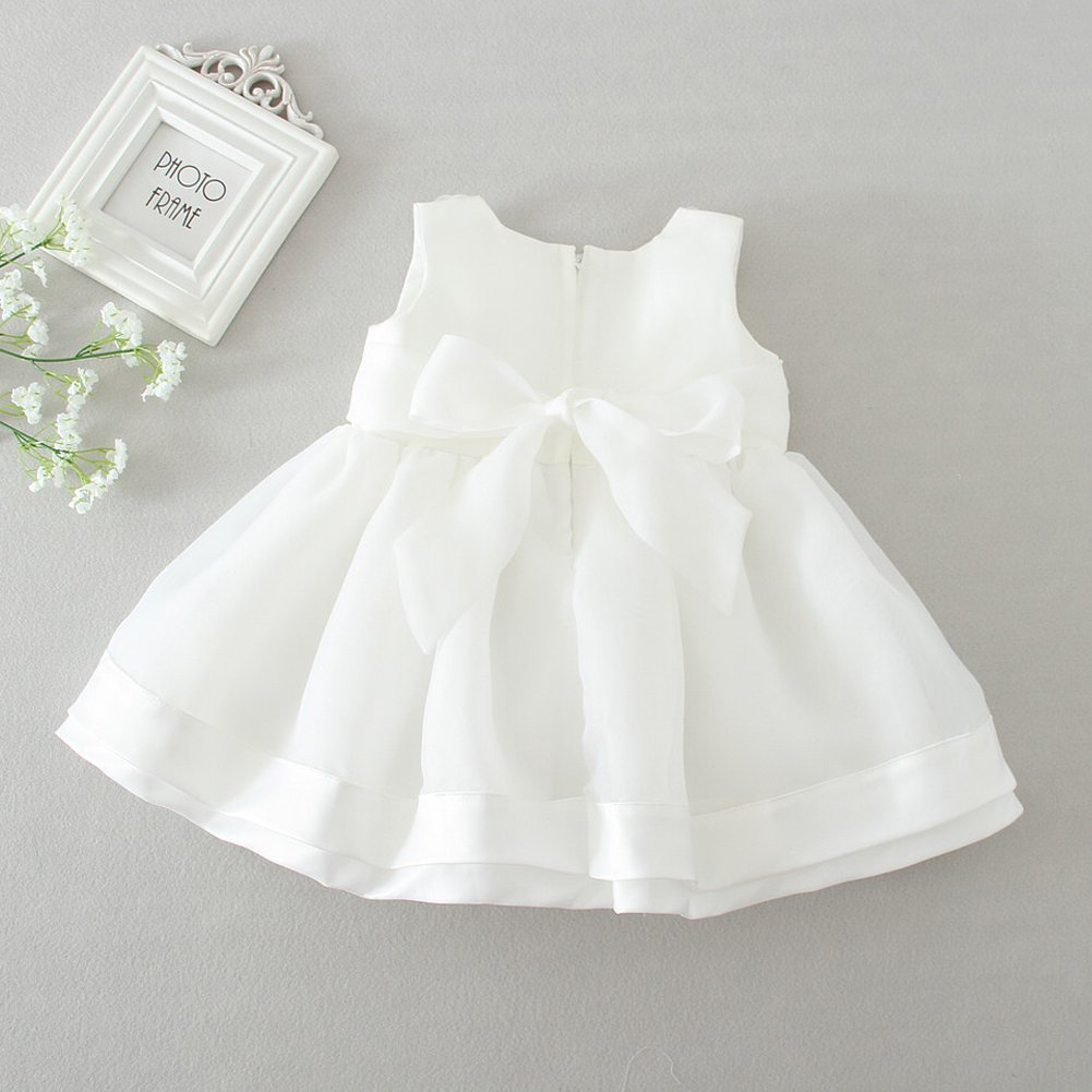 Baby Girl Dress Christening Baptism Gowns Sequined Formal Dress ...