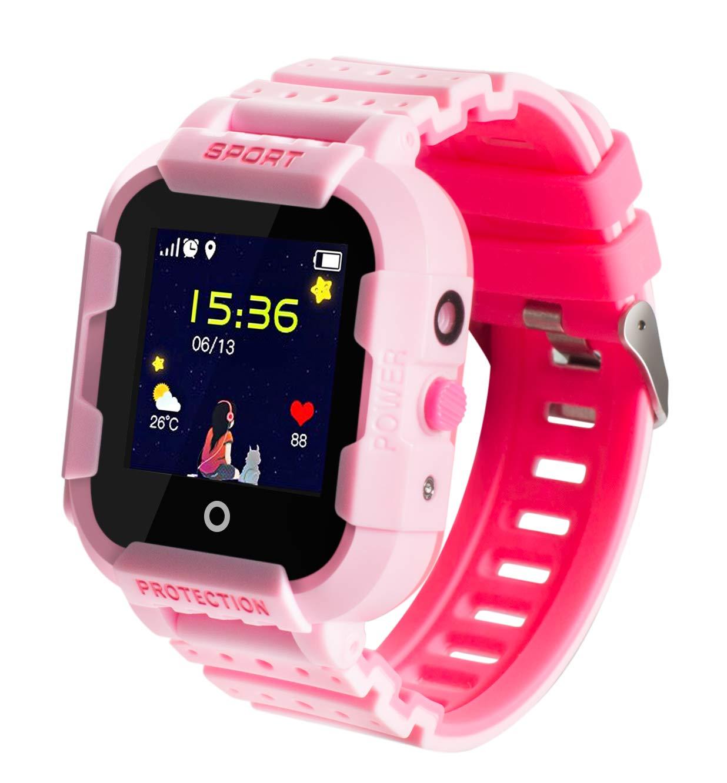 GPS-Telefon Uhr/Smartwatch Outdoor Wasserdicht OHNE Abhörfunktion, für Kinder, SOS Notruf+Telefonfunktion, Live GPS+LBS Positionierung, funktioniert weltweit, Anleitung + App + Support auf deutsch