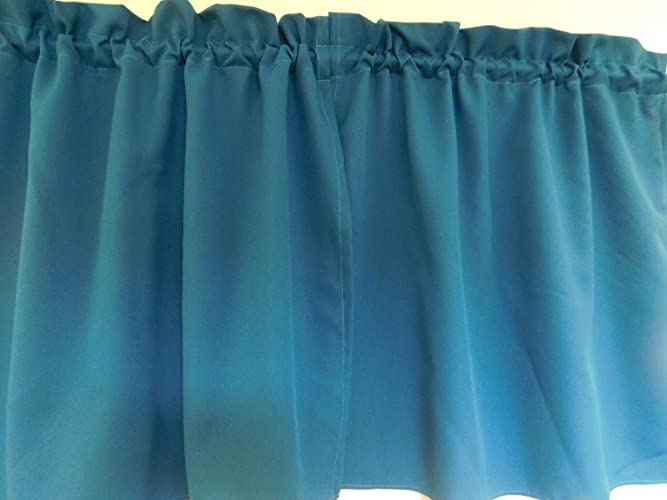Amazon Solid Teal Curtain 48 PanelsTiers Cafe Style Inspiration Kitchen And Bath Design Schools Style
