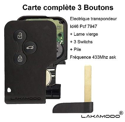 LAKAMODO - Tarjeta de Llave en Blanco con 3 Botones + electrónica ...