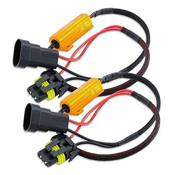 HSUN 9005 HB3 - Bombilla LED resistente a la carga, 50 W, 6 Ohm, decodificador de advertencia, cáncer, Canbus sin errores: Amazon.es: Coche y moto
