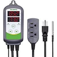 2pcs 100~240V ITC-308 Digital Temperature Controller Outlet Thermostat w//Sensor