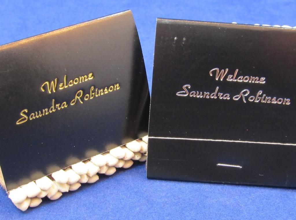 Amazon 125 Black Personalized Matchbooks Wedding Favors Custom