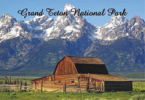 Grand Teton National Park, Wyoming, WY, Mountains, Barn, Souvenir Magnet 2 x 3 Fridge Photo Magnet