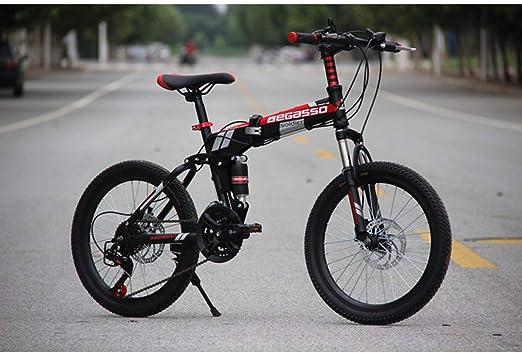 Dapang Bicicleta de montaña Plegable, Cuadro de Acero de 20 ...