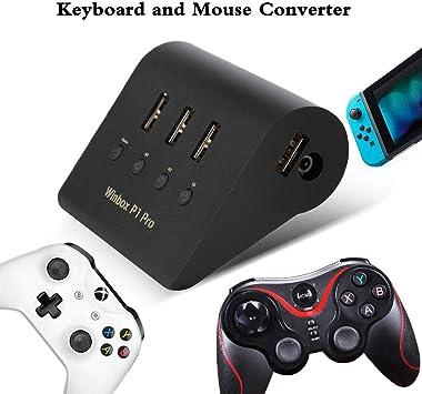 Versión actualización 2019]Convertidor Adaptador de teclado y ratón para Winbox P1 Pro PS4/Switch/XBOX ONE,Admite manijas/ratón convencionales,Cable sincronización USB incluido para el controlador: Amazon.es: Electrónica