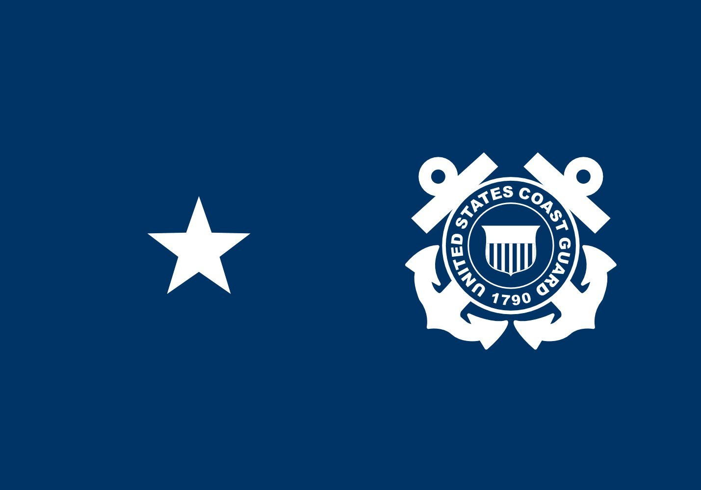 magFlags Large Flag USCG Rear Admiral Flag Lower Half | U | Landscape Flag | 1.35m² | 14.5sqft | 90x150cm | 3x5ft - 100% Made in Germany - Long Lasting Outdoor Flag
