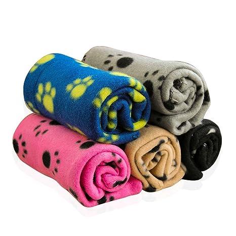 Z-Chen Pack de 5 Mantas para Perros Gatos y Mascotas, 60 x 70cm