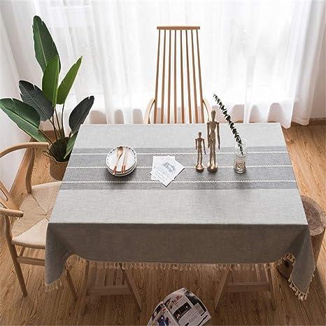 FMM mantel decorativo mantel de encaje de lino mantel rectangular ...