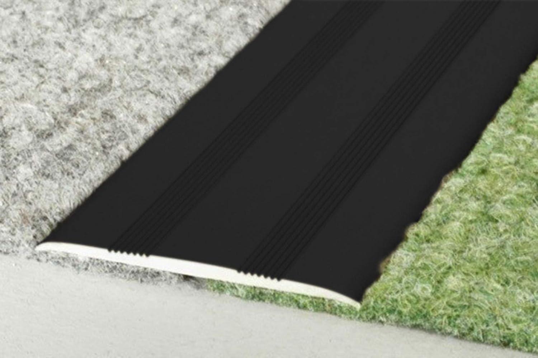 1.00 m/ètres Noir a70sk aluminium D/écoration int/érieur aluminium profile auto-adh/ésif 60x5mm aluprofile