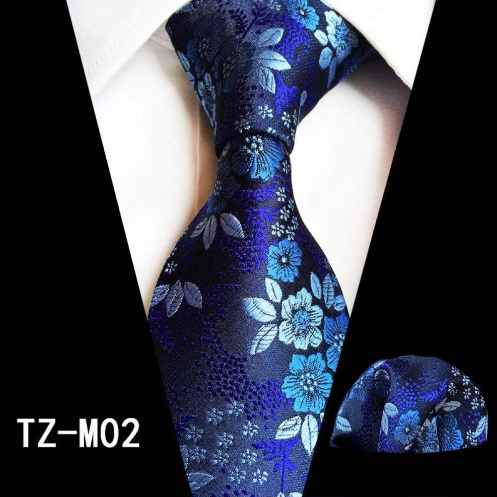 CDBGPZLD Mans Pink Grey Flower Tie Hanky Set 100% Seda Jacquard ...