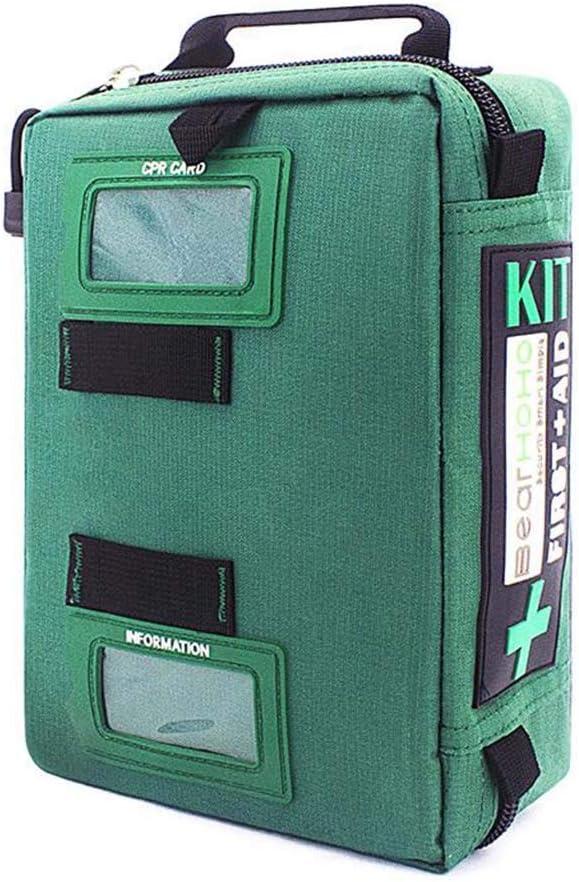 Qnlly 255PCs Kit de Primeros Auxilios Compacto Kit de Trauma de Supervivencia de Emergencia Kit médico con Compartimentos etiquetados para Acampar Senderismo Viaje Barco Coche y Mochila
