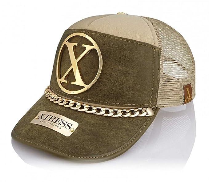Xtress Exclusive Gorra de color caqui y verde para hombre y mujer: Amazon.es: Ropa y accesorios