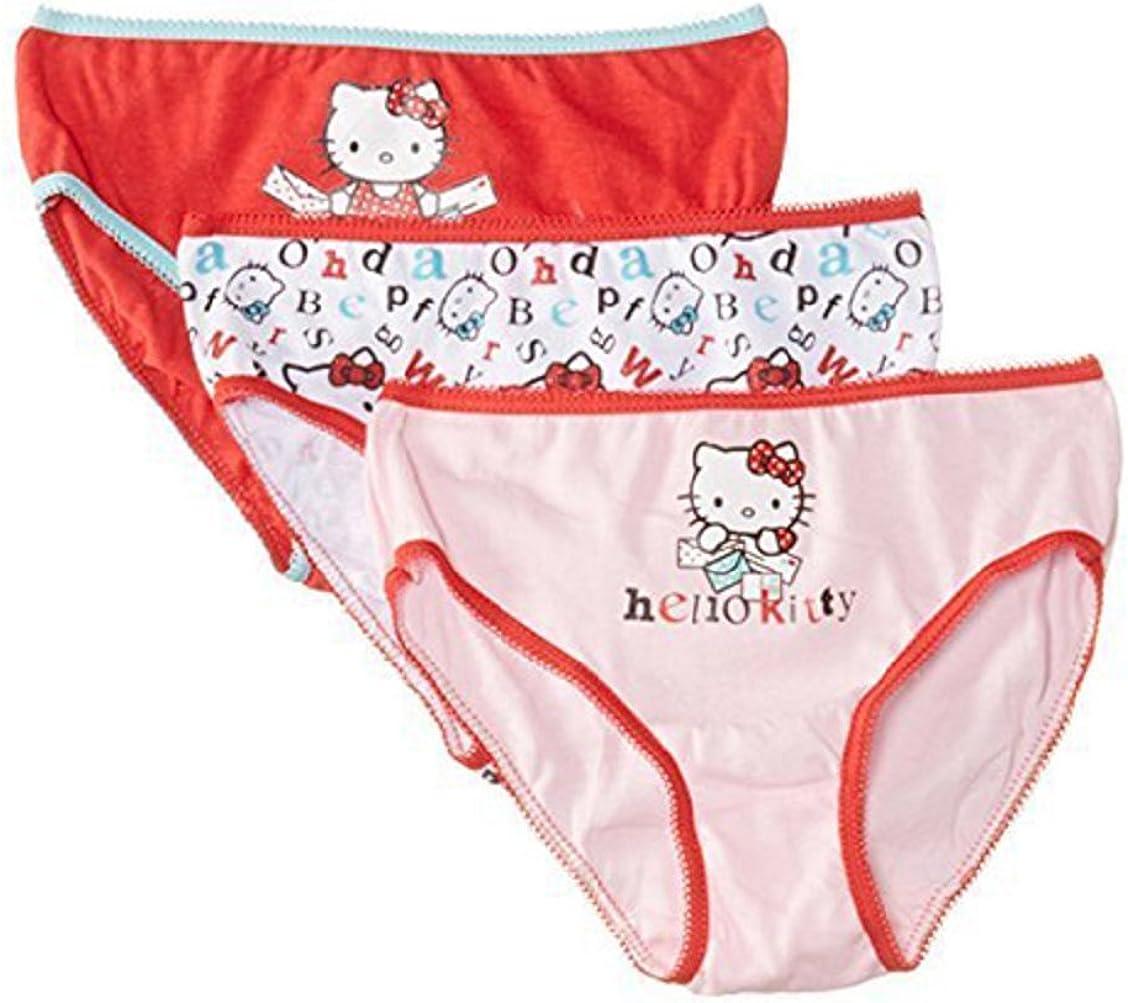 3 Mutande ragazza Hello Kitty Mutandine taglia 2 a 8 anni