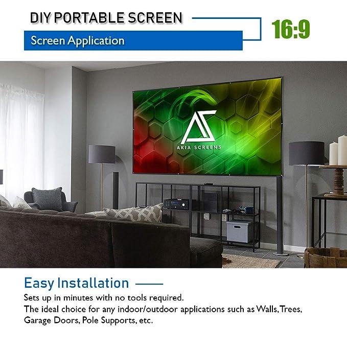 Akia Screens - Pantalla de proyector portátil para interiores y ...