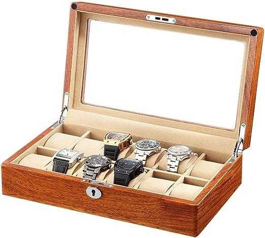 0LL Caja de Reloj, Organizador Caja para Relojes Madera con 6/12 ...