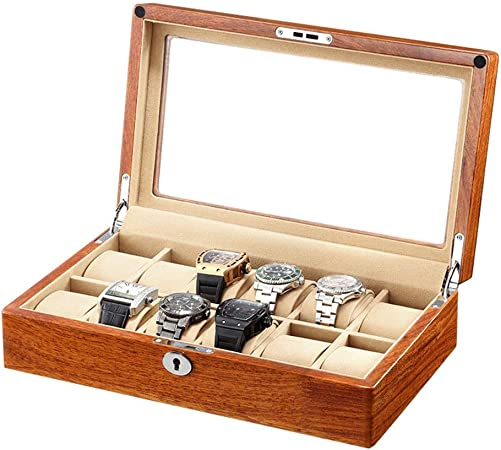 0LL Caja de Reloj, Organizador Caja para Relojes Madera con 6/12/ Compartimentos, Estuche de Regalo Organizador para Hombres o Mujeres (Color : C(12 watchs)): Amazon.es: Hogar