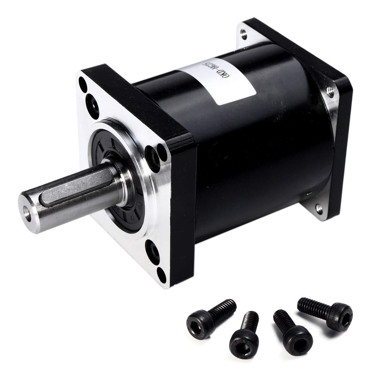 CoCocina 57mm Nema 23 Planetary Reduction Gear Motor Ratio 4:1 5:1 10:1 15:1 20:1 25:1 30:1 40:1 50:1 100:1-4:1