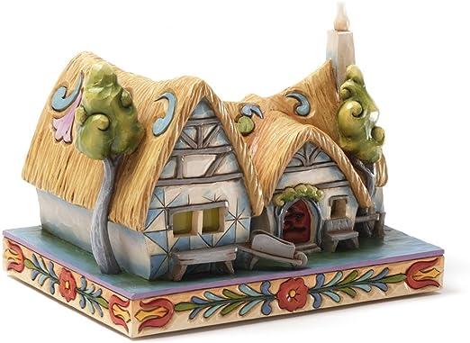 Amazon Com Enesco Disney Traditions By Jim Shore Snow White Cottage Figurine 4 875 Inch Home Kitchen