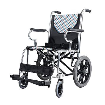Sillas de ruedas Silla de Viaje Plegable Vieja Carretilla portátil cinturón Ultraligera Scooter para discapacitados Carga 100 kg Sillas: Amazon.es: Hogar