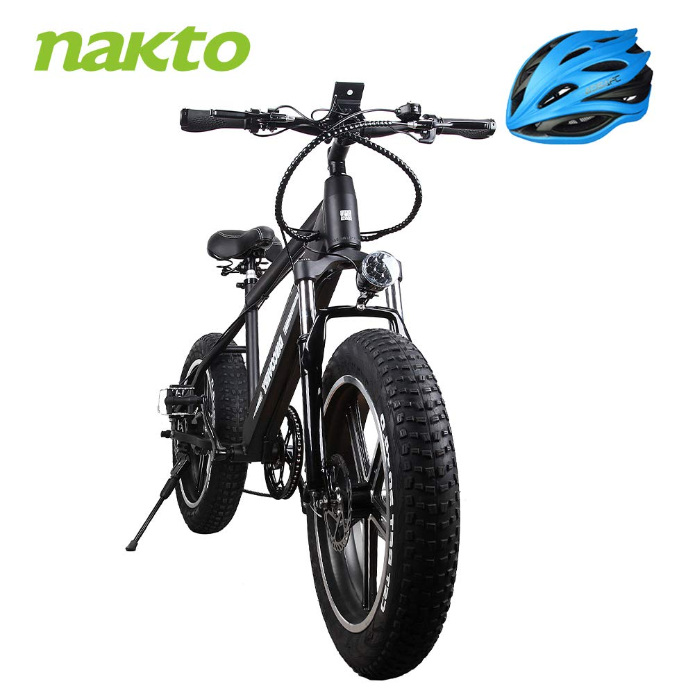 NAKTO 350W Electric Bicycle Mountain E-Bike Shimano 6 Speed Gear