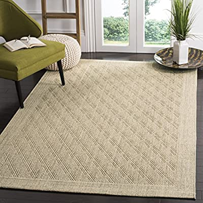 Safavieh Palm Beach Collection PAB351A Sand Sisal & Jute Area Rug (2' x 3') - Choose from select sizes Available in select rug colors Constructed of jute and sisal - living-room-soft-furnishings, living-room, area-rugs - 61rMe9z7azL. SS400  -