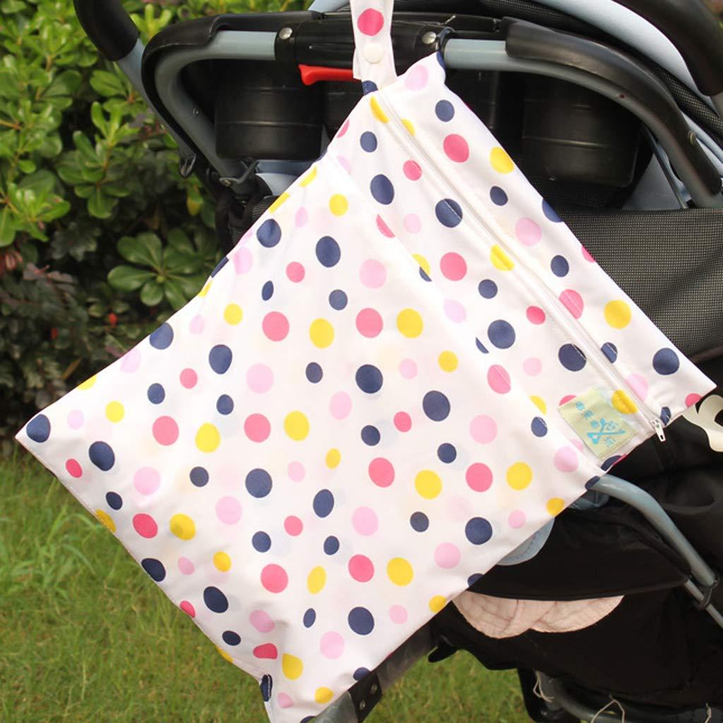 Kuh B Baosity Baby Wasserdichtes Windeltasche Baby Wiederverwendbare Nass und Trocken Windel Beutel Organisator Beutel