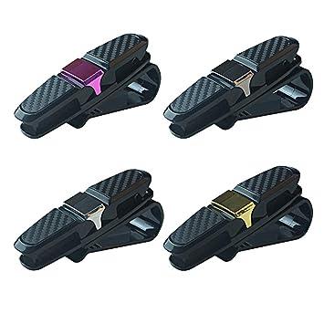 Brillenclip Brillenhalter für Sonnenblende Auto PKW verschiedene Farben/_Schwarz